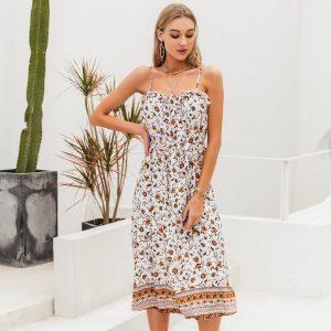 Bohemian chic mid-length dress