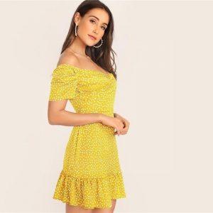 Yellow bohemian dress